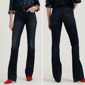 LUCKY BRAND Lolita Boot Dark Blue Mid-Rise Jeans